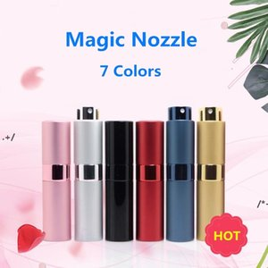 NEWNEW7 Colors Spray Bottle Metal aluminum Portable Refillable Perfume Jar Cosmetic Container Empty Atomizer Travel Liner Glass Containers C