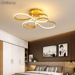 Ceiling Lights Murlamp Modern Minimalist Bedroom Living Room Creative Flower Led Lamp 90-260V