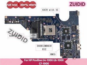 Motherboards 636372-001 For Pavilion G6-1000 G4-1000 G7 G4 G6 Laptop Motherboard HM55 6470 1G DA0R12MB6C0 DA0R12MB6E0 DA0R12MB6E1