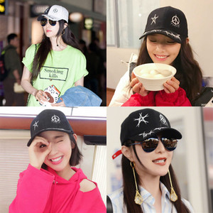 Lin Xinxin Li Fan Bingbing Same Hat Baseball Female Casual Personality Graffiti Sunshade Cap Male
