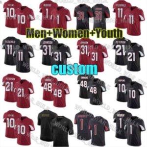 Özel Erkek Bayan Gençlik Arizona10 Deandre HopkinsKardinal 1 Kyler Murray 11 Larry Fitzgerald Isaiah Simmons Futbol Formaları