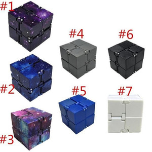 Infinity Cube Creative Sky Magic Fidget Cube AntiStress Игрушки Office Flip Cubic Puzzle Mini Blocks Декомпрессия Смешные игрушки FY2484