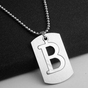 Gift stainless steel English alphabet necklace English initial name symbol necklace detachable letter double layer text