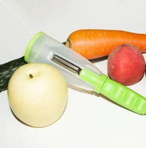 Melón cáscara rallador Peeler Scrapping Knife Multifunción Almacenamiento Scraper Cilindro Apple-Peeler Cuchillo de pelado DHE4912