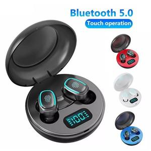 Wireless Earphones A10 TWS Bluetooth 5.0 Wireless HiFi In-Ear Earphones with Digital Charging Box Mini True Sports Headphones Earbuds