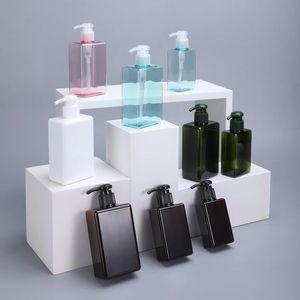 100 ملليلتر مربع petg زجاجة إعادة الملء البلاستيك الحاويات ل ماكياج مستحضرات التجميل غسول شامبو صابون المنزل تخزين الحاويات