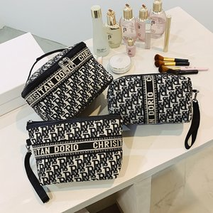 Luxury handbags Make up women's net red 2021 new super fire multi-functional large capacity washing portable hand bag simple