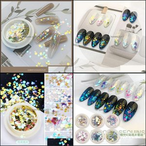 Nail Salon Health & Beautynail Glitter Mifanxi Colorf Sequins 1G Shining Star Laser Irregar Paillette Flakes Art Decorations Tips Six Boxes