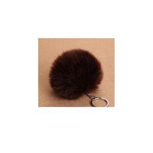 Fluffy Pompon Fur Ball Key Chain For Women Faux Rabbit Fur Pompom Keychain Charm Bag Key Ring Holder Gifts Ran qylNDR