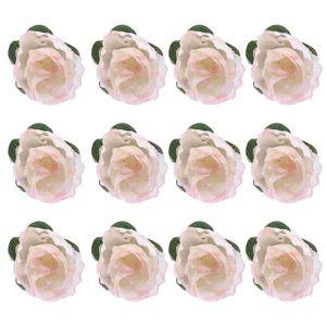 Decorative Flowers & Wreaths 50pcs 3cm Artificial Roses Flower Heads Wedding Decoration (Light)