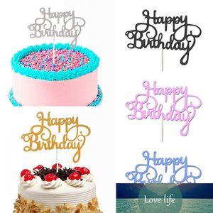 10 قطع بريق ورقة عيد ميلاد سعيد كعكة توبر كب كيك حلوى الديكور لحزب عيد ميلاد كعكة توبر لوازم