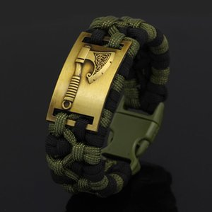 Handmade Nordic Jewelry Viking Axe Paracord Bracelet Nordic Jewelry With Gift bag