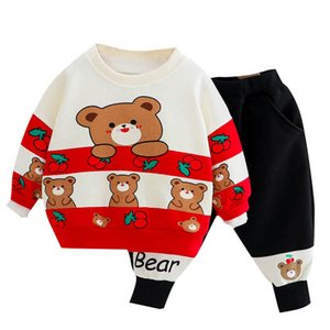 Spring Cartoon Baby Clothes Boys Tracksuit Toddler Sweat Suit Pullover+Trousers 2Pcs Set 0-3Y SM007