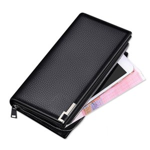 New Wallets Purse Leather Clutch Genuine Men An-ti Zipper Theft Wallet Handbag Coin Male Real Rfid Carteira Cowhide W036 Mpwqm