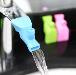 Wasserhahn Extender Badezimmer Baby Hand Wäsche Extender Silikon Spüle Streckfahrer Reisen Tragbare Mundwasser Sput Kinder Handwäsche Helfer OOD5510