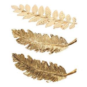 Alloy Hoja Metal Placa de oro Clips de pelo Simple Personalidad Spring Clip Retro All-Match Tocado Joyería de moda Regalo al por mayor
