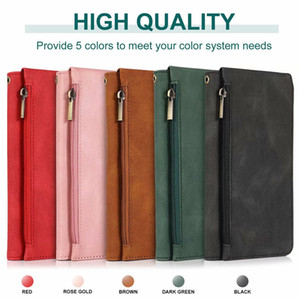 For iPhone 12 11 Pro Max XS XR X 8 7 Plus Leather Zipper Wallet Phone Case With Holder Card Slot All-Inclusive Cover