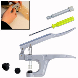 1Set Snaps Button Press Hand Machine Fastener Snap Pliers Punching Tool T5 Resin Buttons Press Stud Cloth for DIY Sewing Tools
