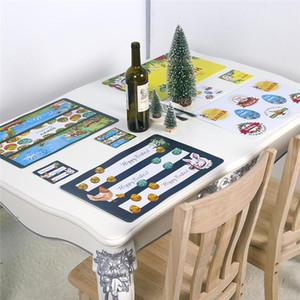 Pasqua Pestalmats Coasters Table Tappetini antiscivolo Tappetini vintage coniglietto colorato uovo floreale tappetino da pranzo tappetino da tavolo JK2002