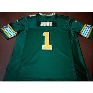 Goodjob Men Youth women Vintage Eskimos #1 WARREN MOON Football Jersey size s-5XL or custom any name or number jersey