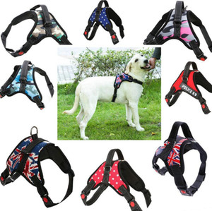 Large Pet Dog Chest Harness All Weather Service Nylon Dog Vest Padded Adjustable Safety Vehicular Lead For Dogs Cat Pet Free Shipping