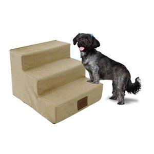 Escadas de animal de estimação de 3 passos para animais de estimação interna rampa portátil portátil filhote de cachorro de gato de gato almofada de cama de almofada l0220