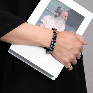 Light luxury men's Bracelets Link, Chain same paragraph hit color high quality fashion personality wild female hip-hop jewelry