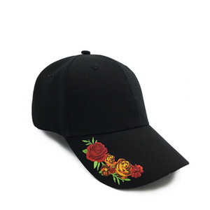 20212021 New Embroidered Sun Hat Hat Female European and American Hot Wool Casual Peaked Cap Clothing Accessories Baseball Cap