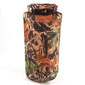 8L Outdoor Camouflage Waterproof Camping Bags Portable Kayak Rafting Diving Dry Bag Sack Swimming Bags for River Trekking