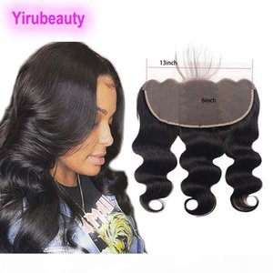Peruvian Human Hair 13X6 Lace Frontal Free Part Body Wave Lace Frontal With Baby Hair Thirteen By Six Closure Natural Color