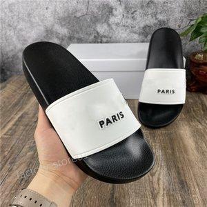 2021 Slides Paris Slides para mujer Sandalias de verano Sandalias de playa Zapatillas de playa Flip Flops Mocasines Mucidones Casas al aire libre Diapositivas Zapatos de Chaussures con caja