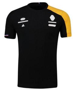 Motocross Takım Elbise F1 Yarış Takım Elbise T-Shirt Polyester Hızlı Kuruyan erkek Kısa Kollu Polo Hız Teslim Gömlek Park Yaka Oto Kulübü WO