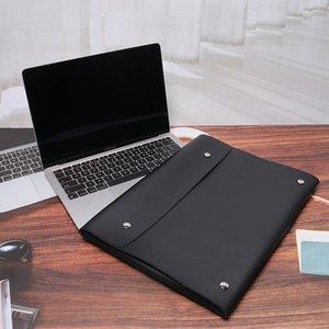 맥북 컴퓨터 가방 가죽 케이스 크리 에이 티브 봉투 iPad 노트북 가방 13 인치 14 인치 컴퓨터 케이스
