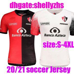 대형 크기 : 4XL 2020 멕시코 클럽 Atlas 축구 유니폼 20 21 Atlas 홈 레드 J. Barraza L. Caballero R. 축구 셔츠 홈 멀리 축구 유니폼