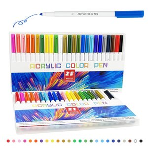 21-25 Color Permanent Acrylic Paint Marker Pens for Fabric Canvas Metal and CeramicsGlass Art Rock Painting Card Making