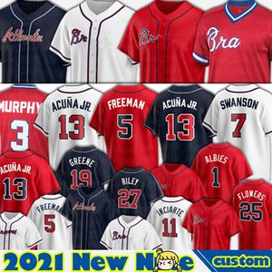 13 Ronald Acuna Jr. Atlanta Jersey 5 Freddie Freeman Baseball 7 Dansby Swanson Ozzie Albies Chipper Jones Cristian Pache Austin Riley Ozuna