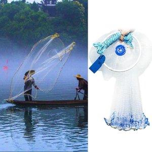 Alta rafforzamento di zinco Pinker Nylon Monofilamento Piccola Mescola a Mano Cast Hand Throw Pesca Net Catch Pesca