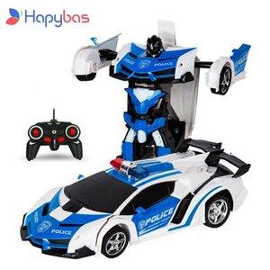 Rc Auto Transformatie Robots Sport Voertuig Model Robots Speelgoed Cool Vervorming Auto Kinderen Speelgoed Geschenken Voor Jongens Q0608