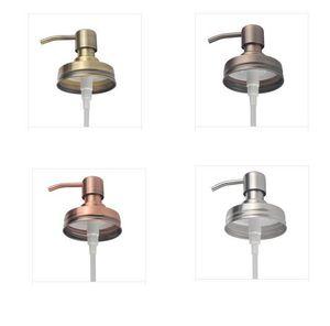 Decor Hand Lids Stainless Steel Bathroom Rustproof Rustic Soap Pump Farmhouse Shampoo Accessories Kitchen For Mason Jar SN5153