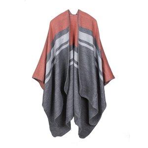 Luxury Brand scarves shawls New Fashion Pashmina American European Style & Wraps Quality Imitation Cashmere Stripes Rhom