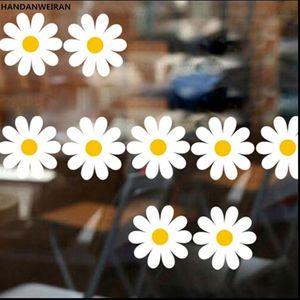 Wall Stickers 1Sets=10Pcs Home Decor Daisy DIY Chrysanthemum Flower For Livingroom Decoration Lovely Sunflower Wallpaper Small