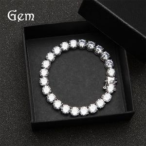 Iced Out Tennis Bracelets Mens Gold Silver Hip Hop Bracelets Jewelry High Quality 8mm Zircon Diamond Bracelet 7 T2