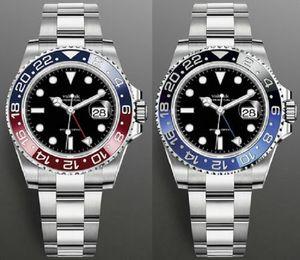 Мода GMT Керамические Безэль Часы Мужские Механические SS Автоматические 2813 Часы Спорт Мужчины Люквины Дизайнеры Наручные Часы Наручные часы