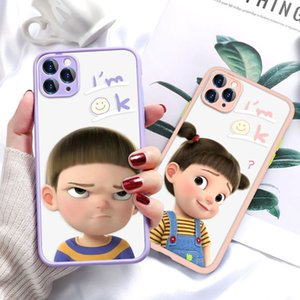 for Apple iPhone12 Funny Girl Painted 11 Pro max mini XS Case Cartoon TPU Cell Phone Protective Cover 5 Styles