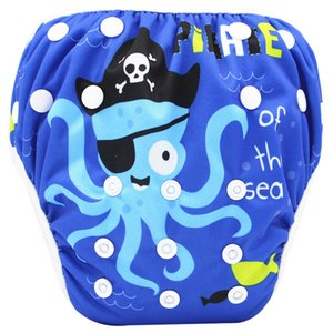 Cartoons Baby Reusable Swim Diapers Cartoon Swimwear Children adjustable summer swimming Nappy pants Diaper 30 Style