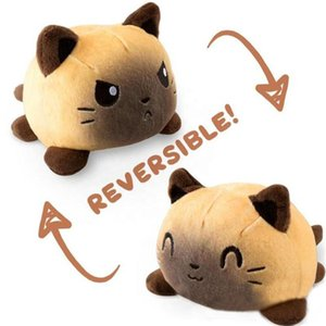 US STOCK Reversible Cat Gato Kids Soft Gift Plushie octopus Plush Animals Double-Sided Flip Doll Cute Toys Peluches For Pulpos Kid Girl