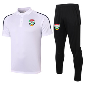 2021 UAE FA soccer Short sleeve polo shirt sets soccer training suit sports jerseys adult soccer polos and pants kits Men's Tracksuits