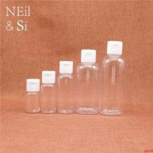 10ml 15ml 30ml 50ml 60ml 100ml Empty Plastic Cosmetic Bottle Refillable Flip cap Shampoo Body Lotion Cream Bottles Free Shippinggood qtys