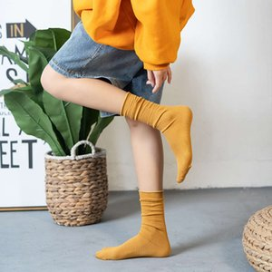 Pile socks combed cotton pilling women's thin style spring and autumn wide loose mouth color tide