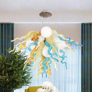 Итальянские чистые ручные вручную стеклянные люстры светодиодные подвесные светильники креативные окрашенные для гостиной спальня люстра светильник